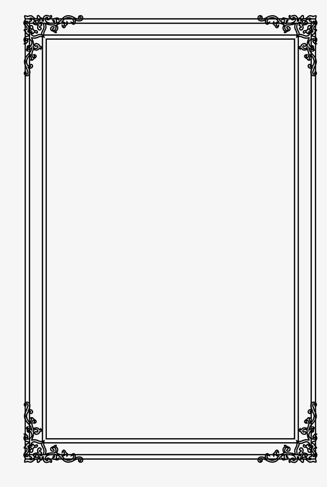 Picture Frame Vector Free Download Png And Vector Frame Border Design Page Borders Design Colorful Borders Design