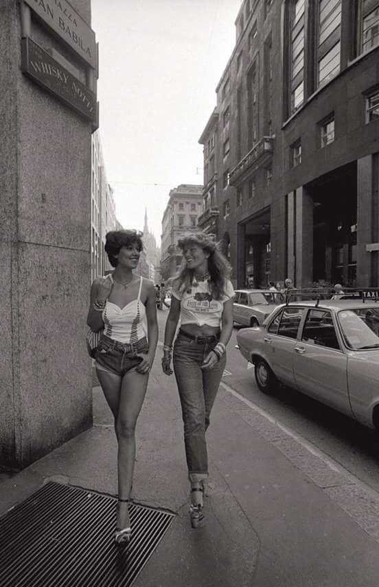 ИСТОРИЯ МОДЫ.Ретро фото Милан. Италия, 1977 г.