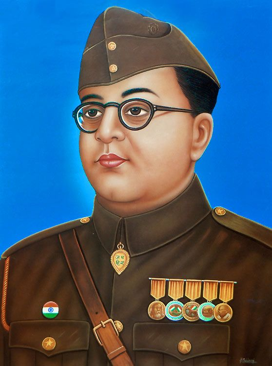 Netaji Subhas Chandra Bose - Indian Freedom Fighter (Reprint on Paper - Unframed)