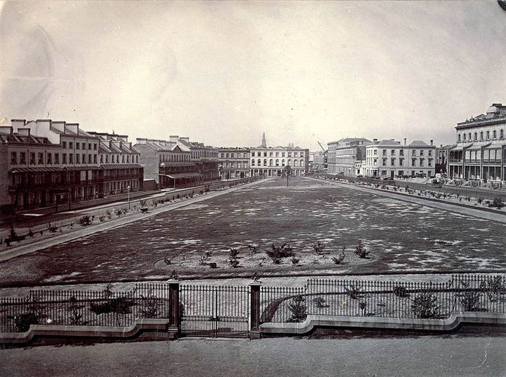 Wynyard Square in Sydney in 1879.
