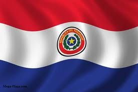 In the Flag of Paraguay there are 3 colors Red stands for justice, white for peace, and blue for liberty. The front of the flag has the country's state coat of arms on it and the back has the country's Treasury Seal. The state arms on the front consist of a five pointed yellow star on a blue disc. Surrounding the star is an olive branch and a palm branch. The Treasury Seal on the reverse side shows a lion guarding the red Phrygia cap.