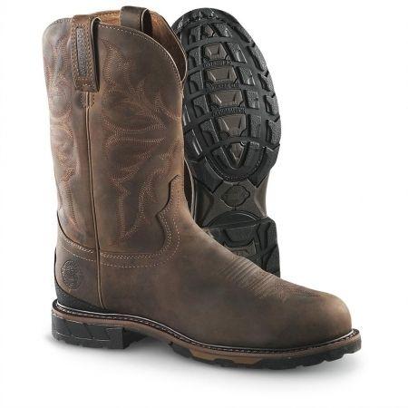Elegant Waterproof Steel Toe Work Boots For Men Compilation