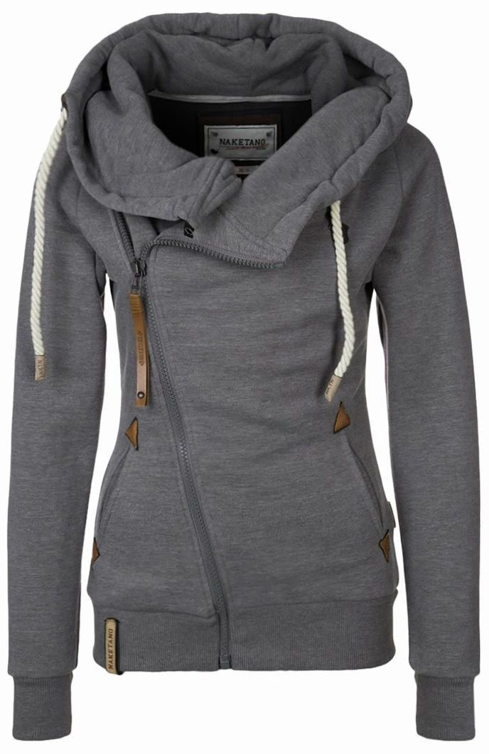 Lovable Fashion: Beautiful Grey Womens Hoodie...I want this #fashion #beautiful #pretty