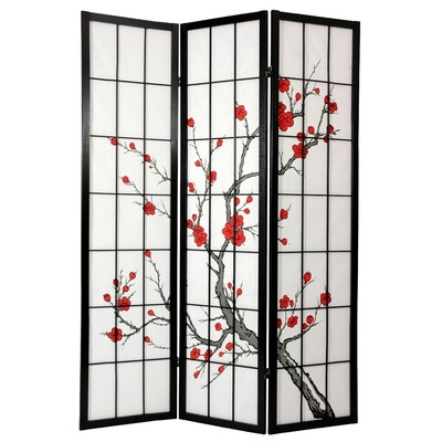 "Oriental Furniture 72"" Cherry Blossom Decorative Room Divider"
