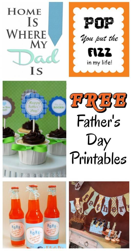 Free printables to polish your Father's Day presentation!