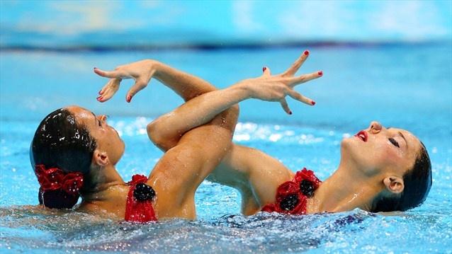 """Londres 2012: Andrea Fuentes y Ona Carbonell, al ritmo del tango """"La Cumparsita"""", se llevan la medalla de plata. ¡Grande el dúo español! #sincronizada"""