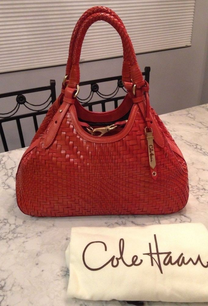 Cole Haan Genevieve NEW! Woven Leather Weave Hobo Tote Satchel Hand Bag  Purse  a92c2d220d3cb