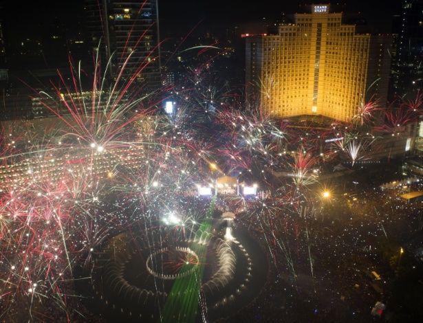 December 31, 2013 - Indonesia Roundabout Hotel, Jakarta, Indonesia. (Bay Ismoyo/AFP)