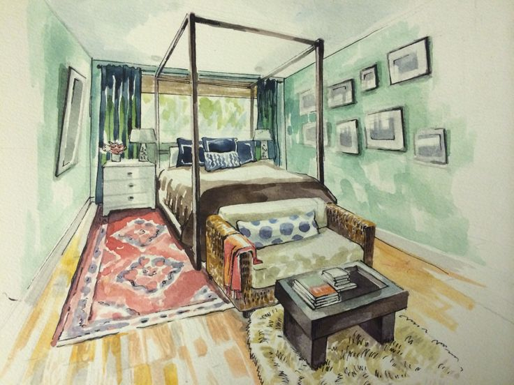 Interior Design Bedroom Sketches 36 best perspective drawings (bedroom) images on pinterest