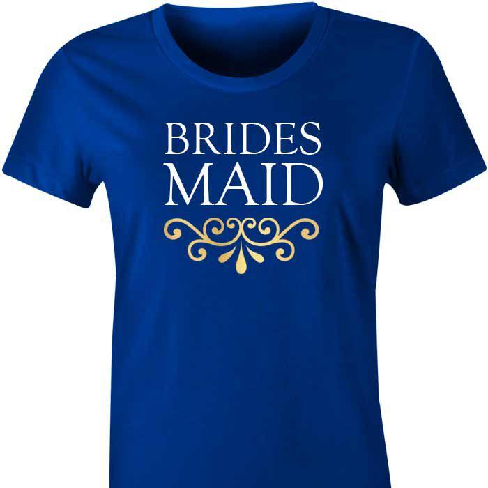 Bridesmaid T Shirt with Filigree
