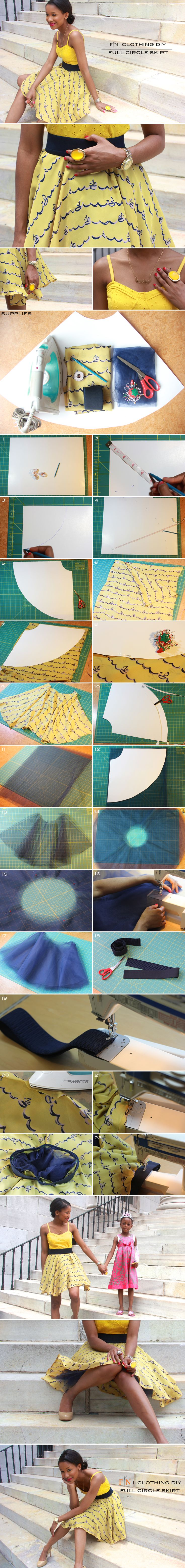 FRUGAL-NOMICS.COM DIY: Full Circle Skirt #tulle #diy #sailboat