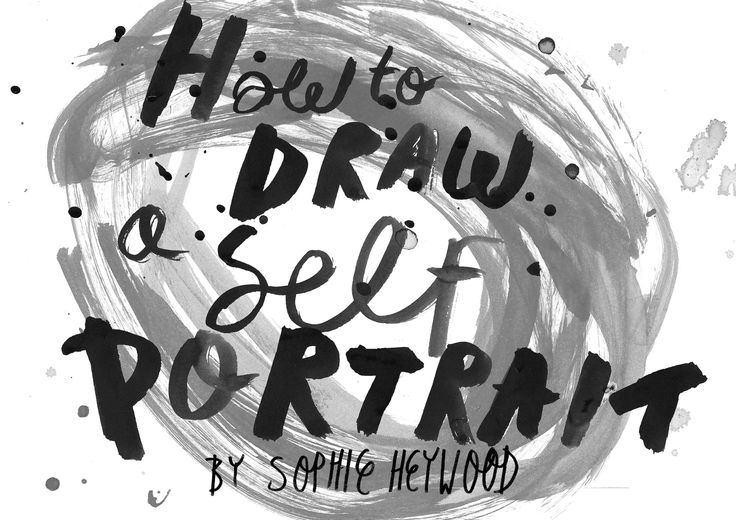 how to draw a freckeled self portrait