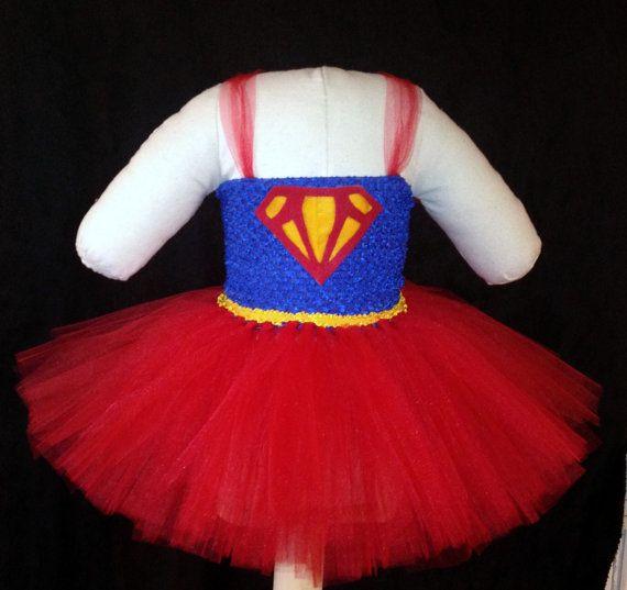 Super Girl / Super Hero Tutu Costume by TinyToesNTutus on Etsy