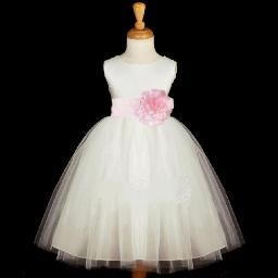 Sew Sweet Clothing Boutique-Port Alberni BC /Tulle Dress     Beautiful Flower Girl Dress with tulle overlay. Comes with a sash and flower. Vancouver Island Weddings