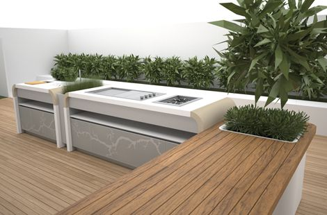 Electrolux Outdoor Kitchen by landscape designer Jamie Durie