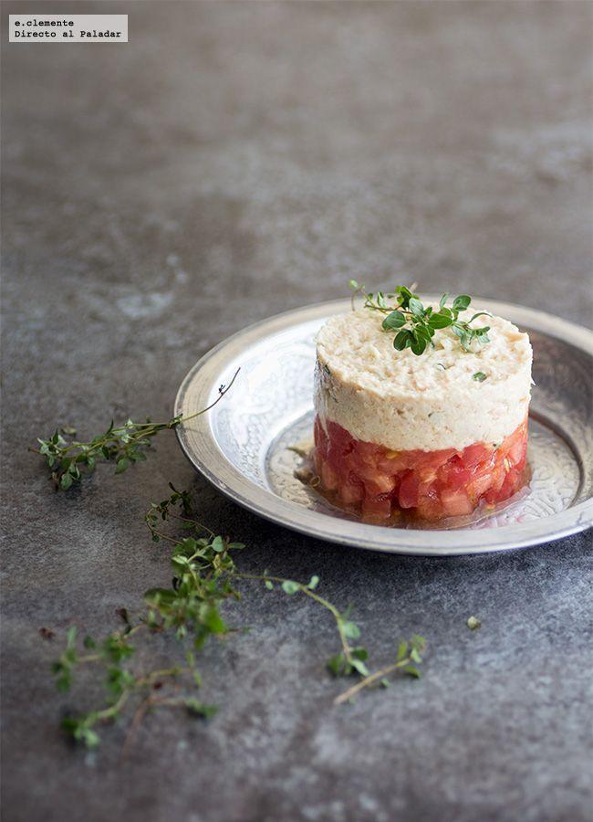 Tartar de tomate con rillette de atún