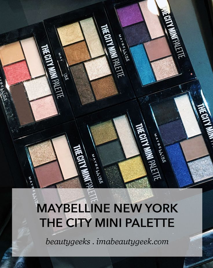 Maybelline The City Mini Palette eyeshadows; launching in Canada in July 2017