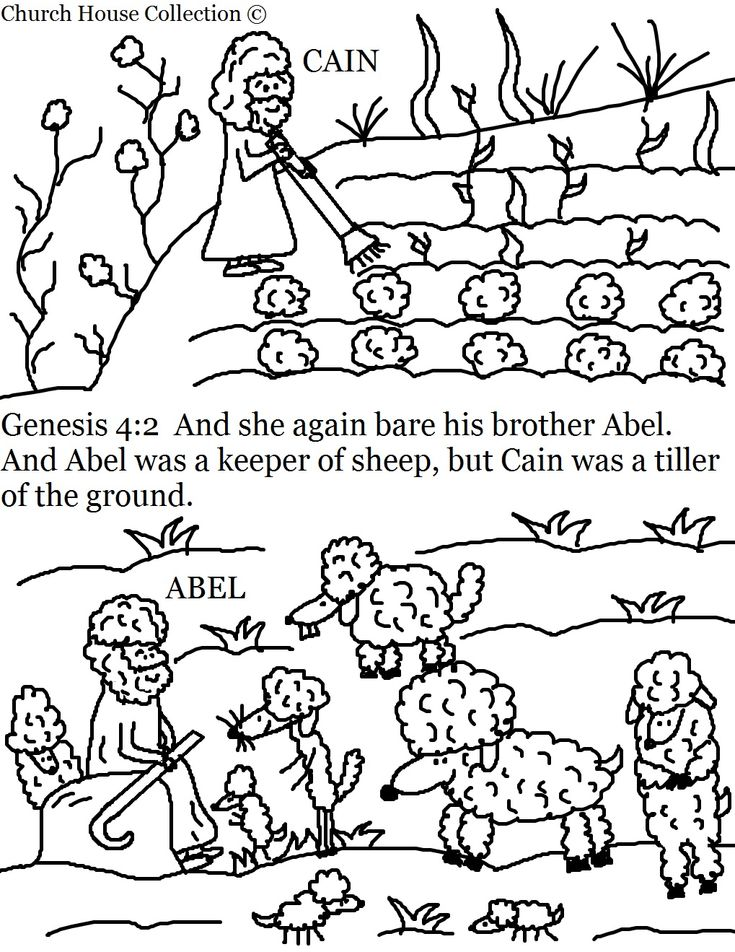 Free Bible Coloring Pages Cain And Abel