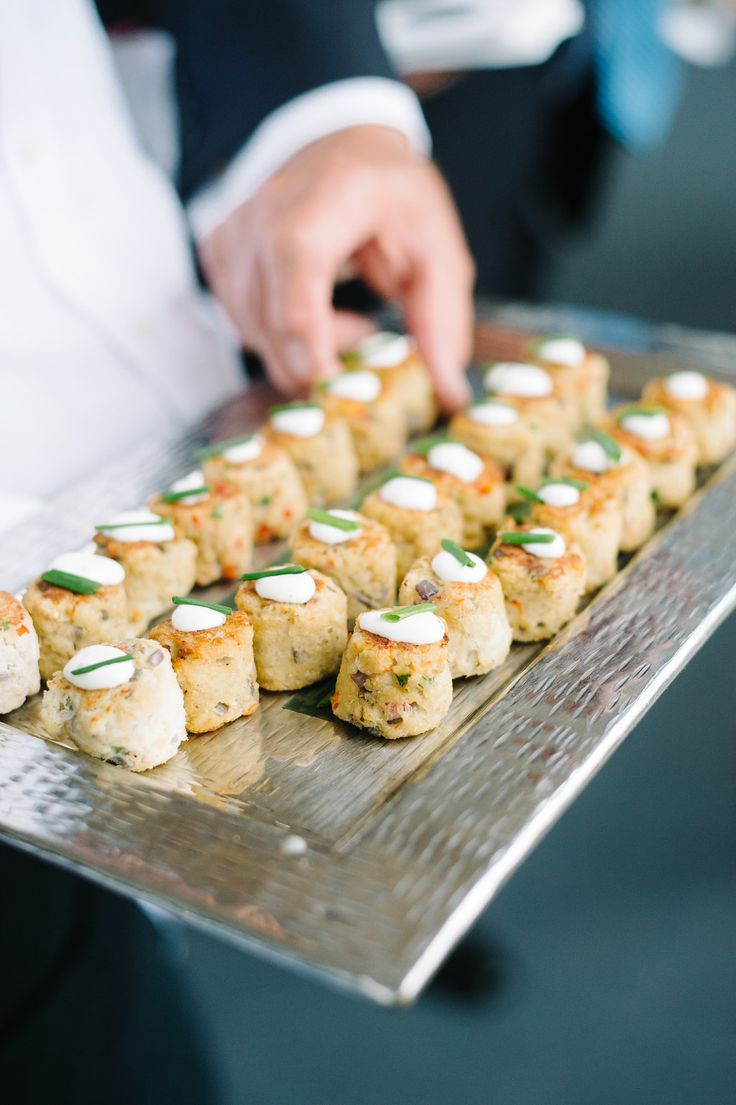 Crab cakes from the PPHG culinary team for your end-of-year or holiday party | Lowndes Grove Plantation | Photo by Aaron and Jillian