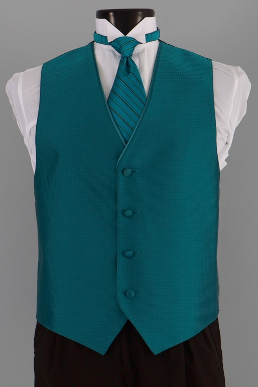 Dunhill Tuxedos Jean Yves Sterling Teal Vest 6041 Blues