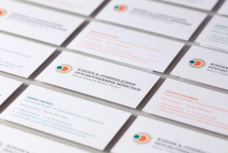 Kinderpsychotherapie Frömel & Steinert | #corporate #design #visitenkarte