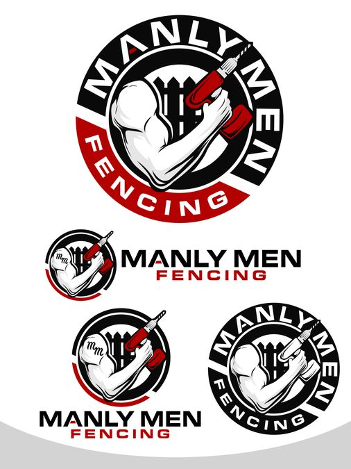 Create a Funny / Profesional Logo - Manly Men Fencing by bentosgatos