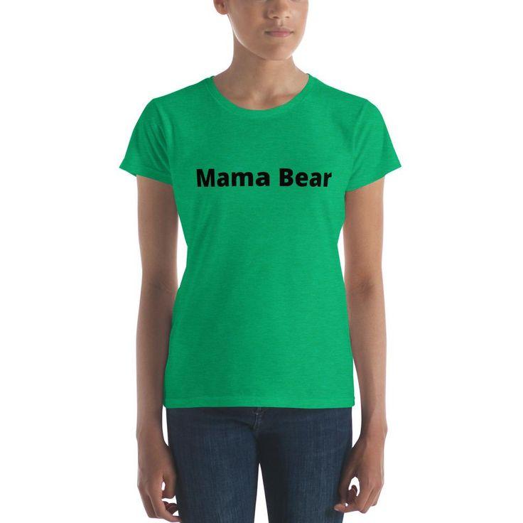 Mama Bear - Women's short sleeve t-shirt - BLK