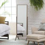 Belham Living Modern Cheval Mirror - Driftwood - 23.25 W x 60H in. - The Belham Living Modern Cheval Mirror beautifully reflects your personal style. Featuring an MDF wood frame, this piece has a neutral Driftwood...