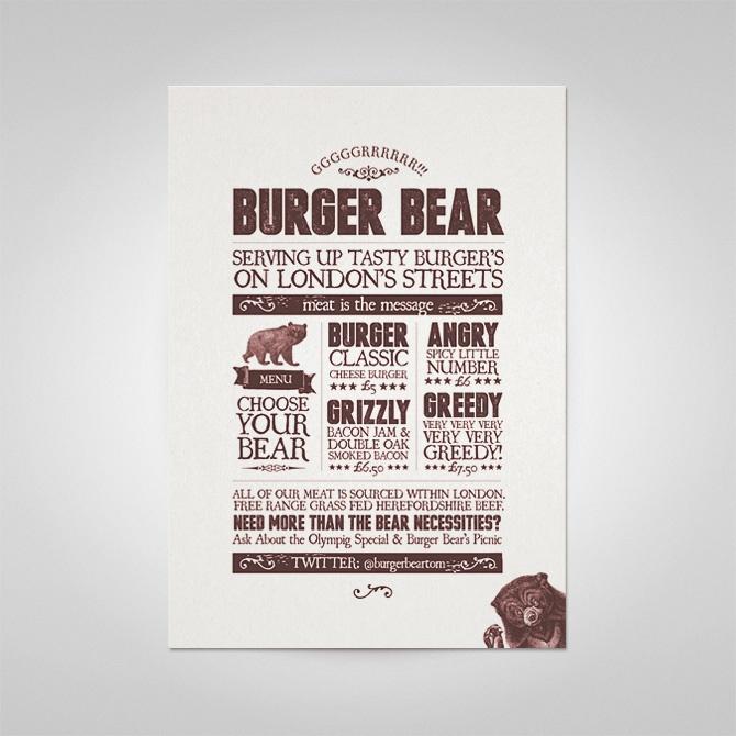 Burger Bear - Ello Mate Studio