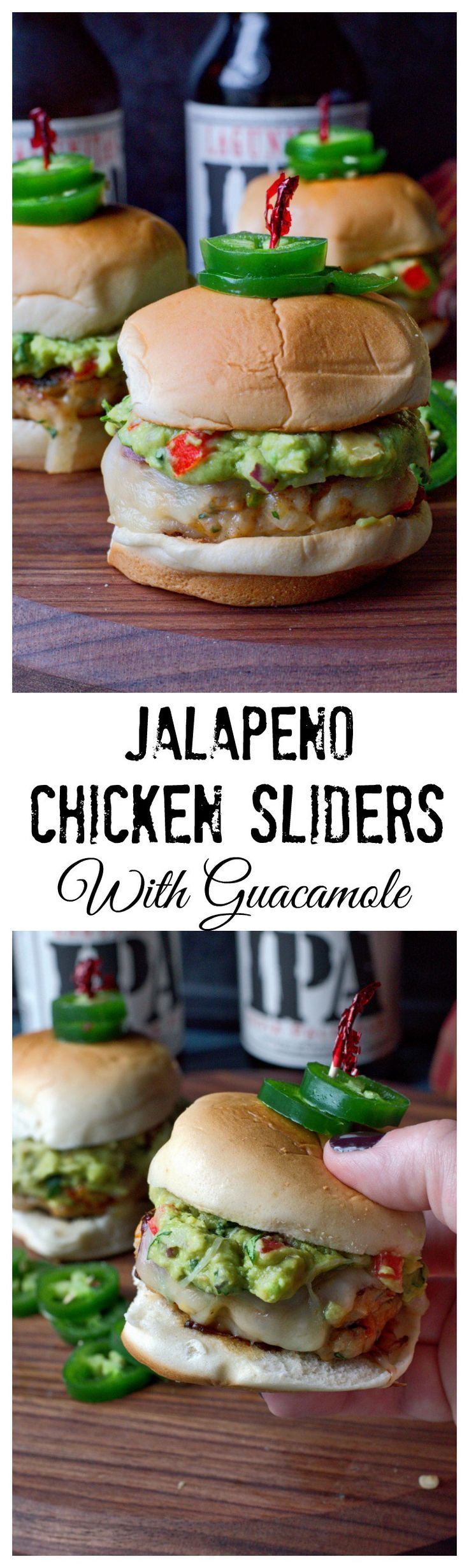 These Jalapeño Pepper Jack Chicken Sliders with Guacamole are not only adorable but delicious! Always a crowd pleaser.