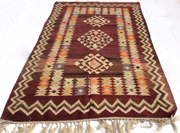 Colorful Hand woven Kilim rug, 8,3 x 5 feet
