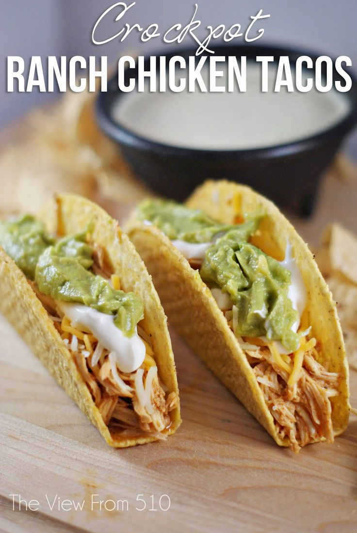 Crockpot Ranch Chicken Tacos #Recipe - easy meal idea for the family!