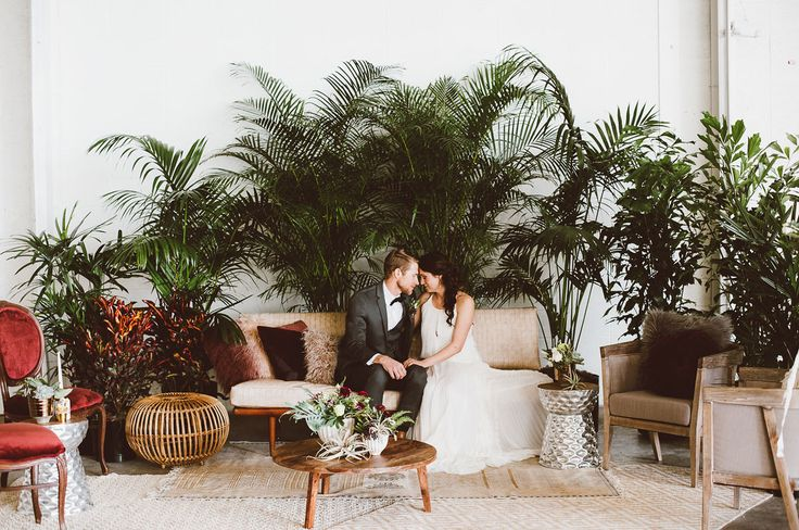 Have we got something fun for you guys… Today's lush + bohemian editorial at The Hangar at Stanley in Denver came together when designer + planner Adina Michelle Events called upon all of her creative vendor friends. The idea: raw and industrial, modern, bohemian, and lots of greenery. Adina tells us I wanted it to...