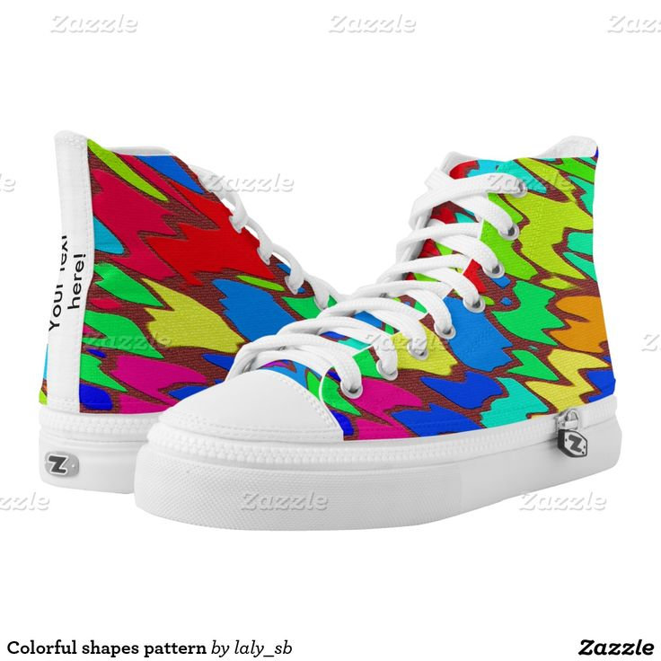 Colorful shapes pattern printed shoes