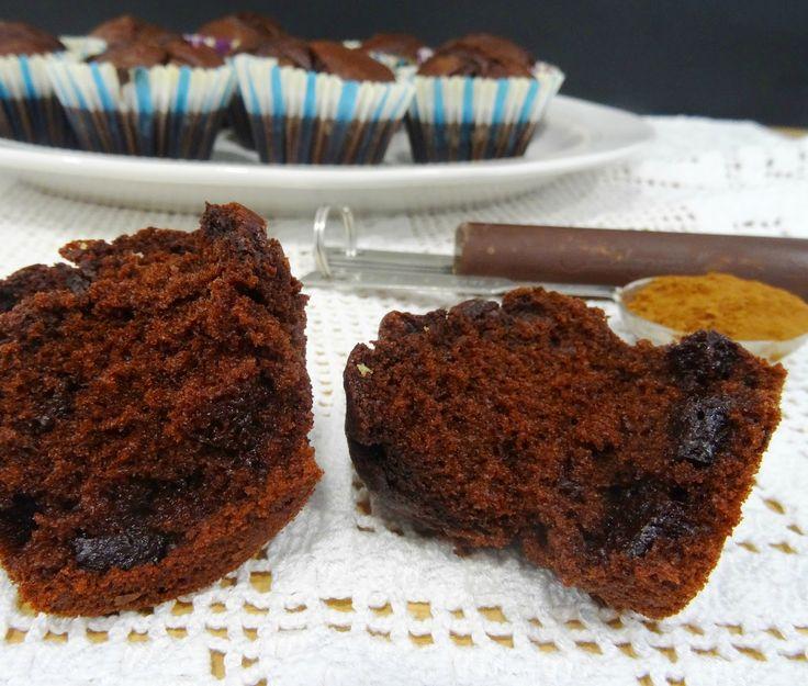 Muffins de duplo Chocolate