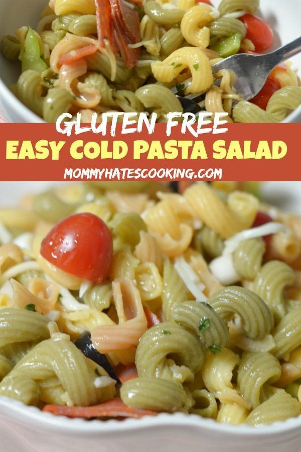 Easy Cold Pasta Salad Recipe Bloggers Recipes Pinterest