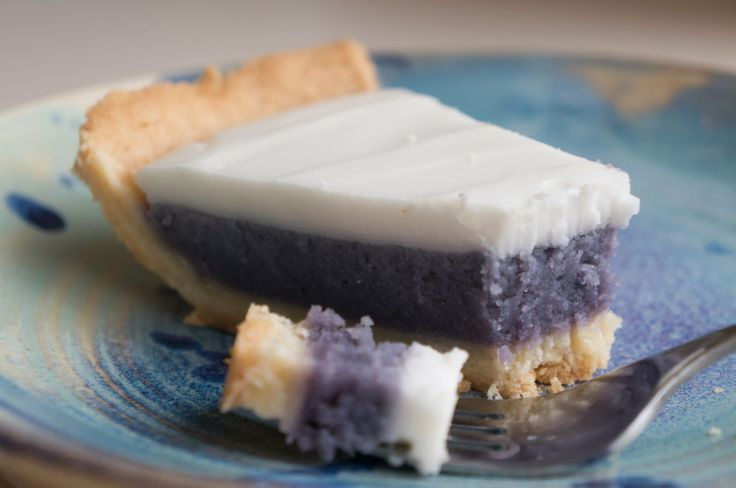 Hawaiian Okinawan Taro Pie with Haupia Topping.  This is where the Paradise Pie from Bob Chinn's comes from!!!!!!