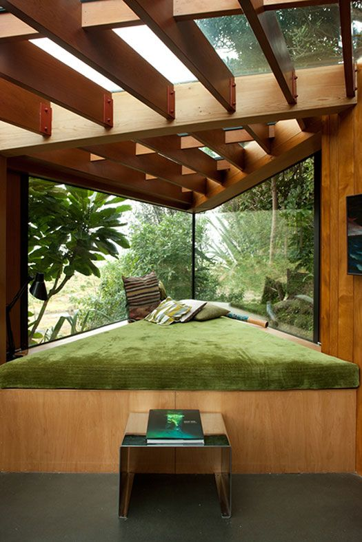 decor, interior, view, window, wood, green,
