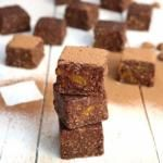 Raw cacao & apricot brownies