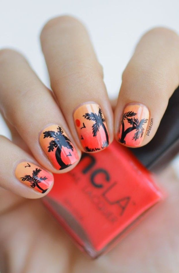 Trendy summer nails 2014. The most beautiful pics of nails for the summertime