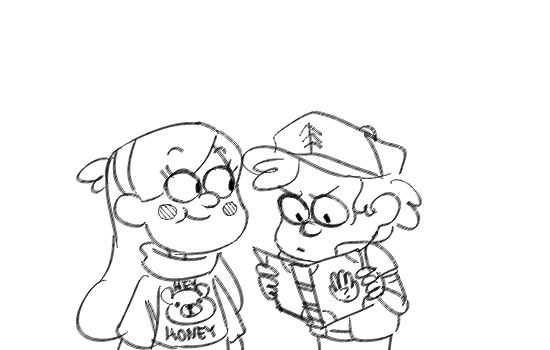 Lol Mabel! And wow, dipper reads at the speed of light.