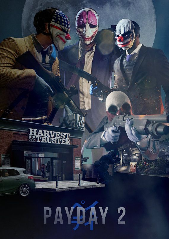 Payday 2  A3 Poster by Guraphiku on Etsy