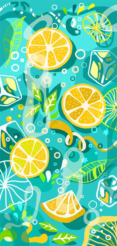 Lemonade designs for sketchbooks covers by Julia Drobova