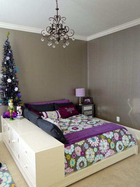 Preadolescente niños Glam dormitorio moderno