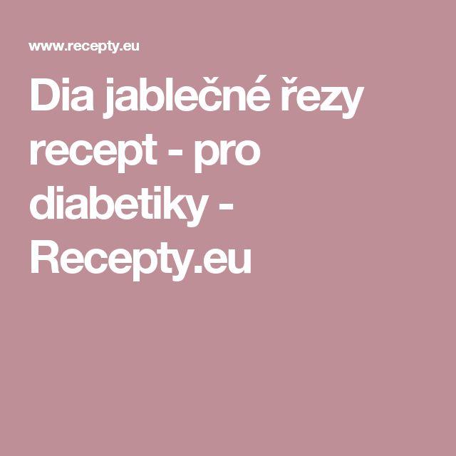 Dia jablečné řezy recept - pro diabetiky - Recepty.eu