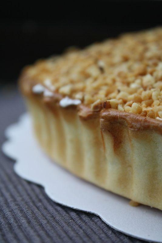 """Tarte """"Brésilienne"""" belge - crème pâtissière chantilly noisette torréfiés caramélisé"""