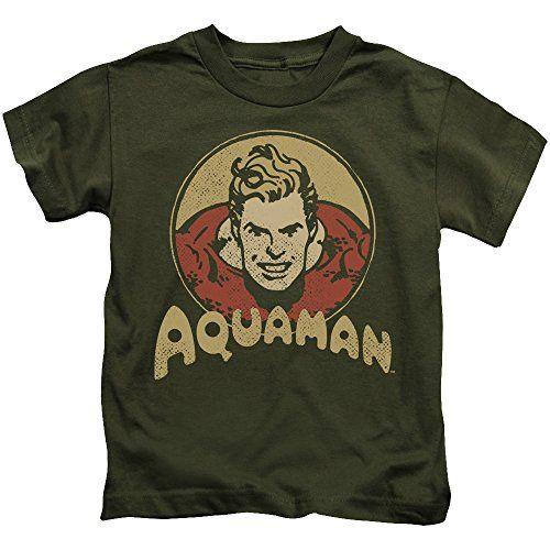 DC+Comics+Retro+Shirt Products : Aquaman DC Comics Superhero Retro Comic Circle Little Boys T-Shirt Tee