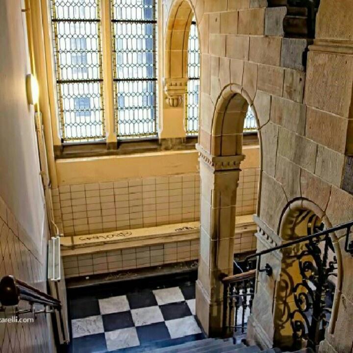 Magna Plaza Amsterdam staircase