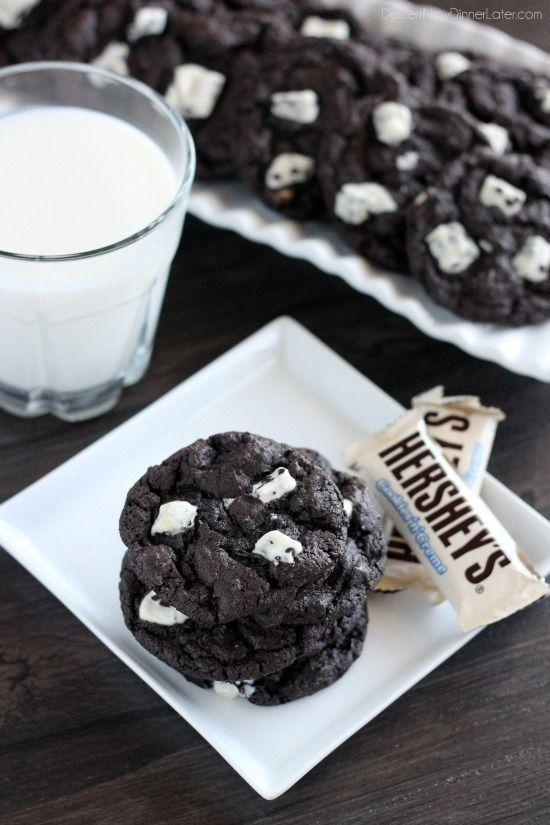 Dark Chocolate Cookies & Cream Cookies   Recipe   Dark Chocolate ...