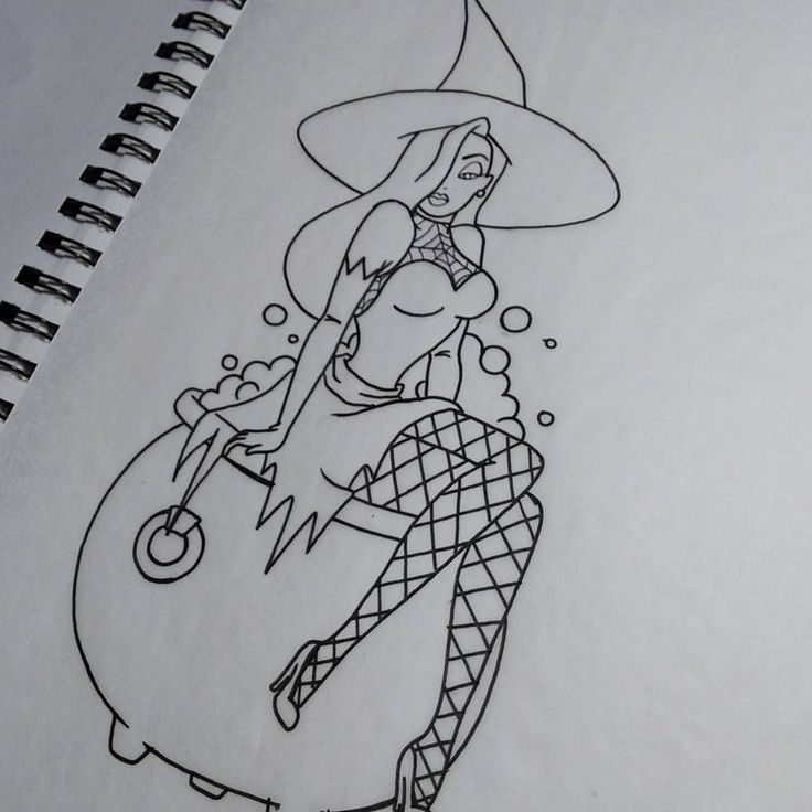 Shaky hands! I've got some stuff to fix up, then paint, but here's a witchy Jessica Rabbit. #halloween #allhallowseve #witch #witchy #witchywoman #Jessica #jessicarabbit #whoframedrogerrabbit #Disney #Disneyworld #Disneyland  #Disneyart #disneytattoos #imnotbad #imjustdrawnthatway #bubblebubbletoilandtrouble #cauldron #witchesbrew #tattooart #tattoodesigns #tattoodesign #rogerrabbit #halloweenart #wip #disneyartonparade # mickeysnotsoscaryhalloweenparty #mnsshp #mnsshp2015 #disneyhalloween…